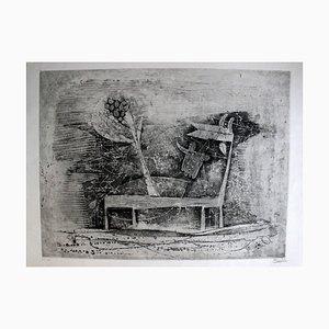 Les Deux Vaches - Original Etching by J. Friedlaender - 1953 1953