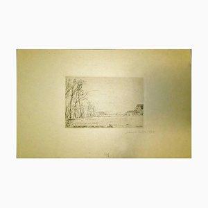 Lisière du Petit Bois, Ostende - Original Etching by James Ensor 1888