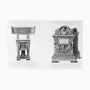 Prospetto della medesima sedia Curule... - Etching 1778 1778