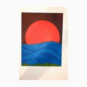 Assiette I de Suns / Landscapes - Gravure à l'Eau-Forte originale par R. Crippa - 1971/72 1971/72