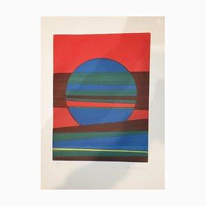 Assiette III de Suns / Landscapes - Gravure à l'Eau-Forte originale par R. Crippa - 1971/72 1971/72