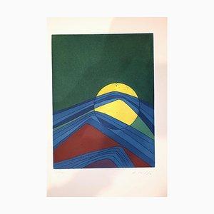 Assiette II de Suns / Landscapes - Gravure à l'Eau-Forte originale par R. Crippa - 1971/72 1971/72