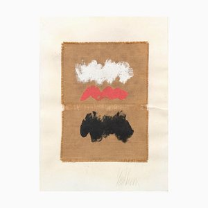 Untitled - Mixed Media on Jute Canvas - 1970s 1970s