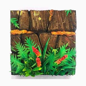 Ferns and Flowers - Original Mixed Media by Piero Gilardi - 2004 2004