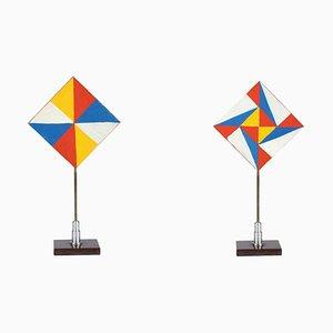 Bunte Dreiecke - Temperas auf Holz von Giacomo Balla - 1930er Jahre