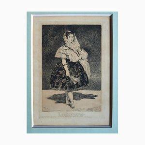Lola de Valence - Original Etching by Edouard Manet - 1862 1862