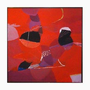 Red Composition - Öl auf Leinwand von Marcello Avenali - 1970s 1970s