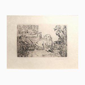 La Gourmandise - Original Etching by James Ensor - 1904 1904