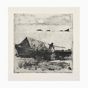 Boats - Original Etching by Giovanni Fattori - 1895 ca. 1895 ca.