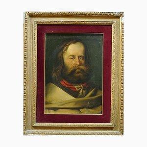 Porträt des jungen Giuseppe Garibaldi - Original Öl auf Leinwand 19. Jahrhundert 19. Jahrhundert