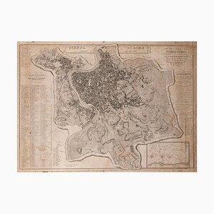 Map Of Rome - Original Etching by Luigi Nicoletti - 1835 1835