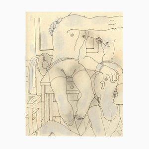 Le Livre Blanc - Original China Ink Drawing by Jean Cocteau - 1930 ca. 1930 ca.