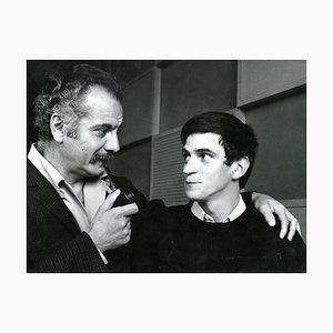 Portrait de Georges Brassens avec Georges Chelon - Photo Vintage - 1960s 1960s