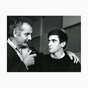 Portrait of Georges Brassens with Georges Chelon - Vintage Photo - 1960s 1960s