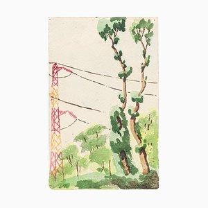 Landscape - Watercolor on Paper by J.-R. Delpech - 1936 1936