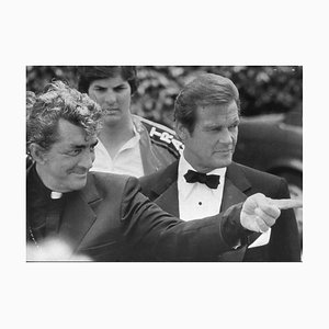 Dean Martin and Roger Moore - Original Vintage Photograph - 1981 1981