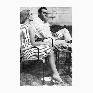 Jack Lemmon and Felicia Farr - Original Vintage Photograph - Early 1960s Early 1960s