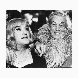 Georges Sanders and John Huston - Original Vintage Photograph - 20th Century 20th century