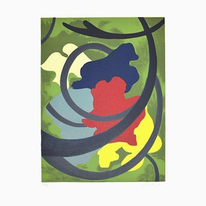 Abstract Composition - Original Screen Print by A. Fanfani - 1972 1972