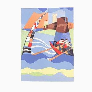 Maritime Palio - Original Lithographie von O. Peruzzi - 1989 1989