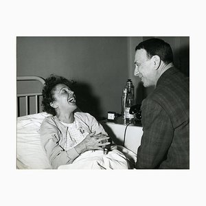 Retrato vintage de Edith Piaf Smiling - 1963 Late fines de los años 60