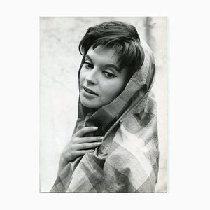 Portrait of Yvonne Monlaur by Franco Pinna - Vintage B/w Photo - 1960s 1960s