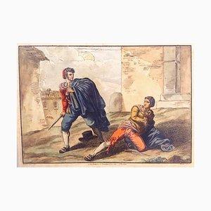 Roma Costumi Trasteverini - Etching by Bartolomeo Pinelli - 1819 1819