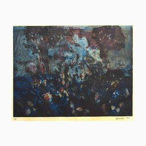 Composición floral - aguafuerte original de Nino Cordio - 1967 1967