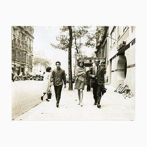 Photographie Françoise Hardy par Jean-Marie Perier- Vintage N & B - 1960s 1960s