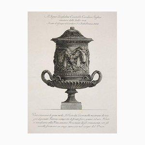 Vaso Cinerario di Gran Mole, etching from ''Vases, Candelabras, Grave,Stones...'' 1778