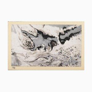 Composition - Original Tempera con Cardboard b Jean-Pierre Gras - 1950s 1950s