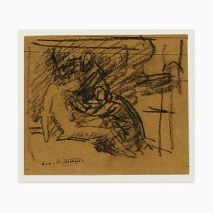 The Deposition - Original Charcoal Drawing - Late 19th Century Late 19th Century