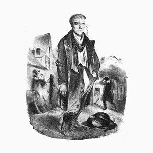 L'Ivrogne (The Drunkard) - Lithograph by H. Daumier - 1834 1834
