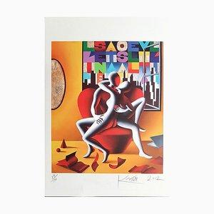 Lithographie The Book of Love - Original par Mark Kostabi - 2012 2012