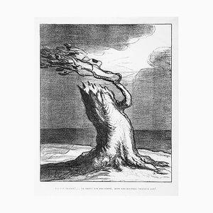 Pauvre France! (Poor France!) - Lithograph by H. Daumier - 1871 1871
