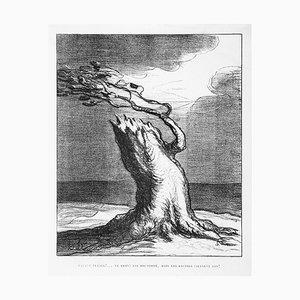 Pauvre France! (Poor France!) - Lithographie von H. Daumier - 1871 1871