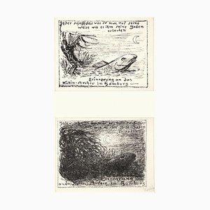 Nachtlicher Sumpf - Original Lithograph by A. Kubin - 1933 1933