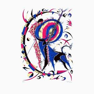 Lithographie Muleta - Original par Raphael Alberti - 1970 1970