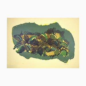 Magnolia - Original Lithograph by Ennio Morlotti - 1980s 1980s