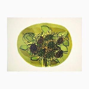 Litografía Sunflowers - Original de Ennio Morlotti - 1979 1979