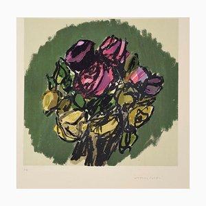 Bouquet - Original Lithograph by Ennio Morlotti - 1980s 1980s