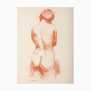 Lithographie Original Femme par M. Roche - 1930 ca. 1930s