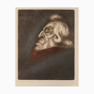 Portrait of Lucien Guitry - Etching on Paper by Jean Auscher - Mid 20th Century mid 20th Century