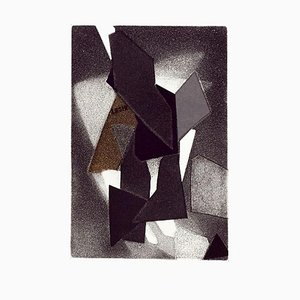 Geometric Composition - Original Etching and Aquatint by Hans Richter - 1973 1973