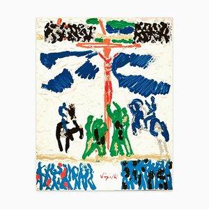 Study for a Crucifixion - Original Mixed by Antonio Vangelli - 1980s 1980s