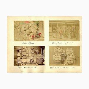 Antike Porträts von Osak, Japan - Hand-Coloured Albumen Print 1870/1890 1870/1890