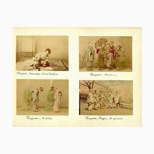 Portraits of Women and Children in Nagasaki - Albumen Print 1870/1890 1870/1890