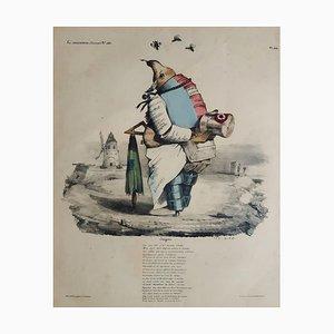 Enigme - Original Lithograph by J.J. Grandville - 1835 1835