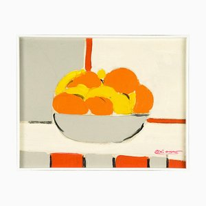 Citrus Fruits - Original Mixed Media by French Master Mid 20th Century Mid 20th century