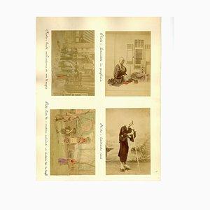 Devotional Portraits from Kyoto - Ancient Albumen Print 1870/1890 1870/1890
